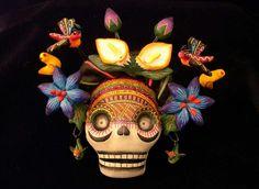 Flowered Frida's skull