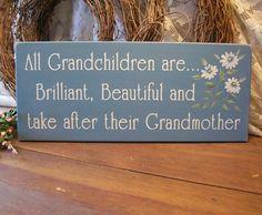 Grandchildren Wood Sign Brilliant Beautiful by CountryWorkshop, $15.95