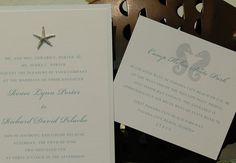 Oceans of Love Invitation Suite  starfish & by shannonporter, $4.25