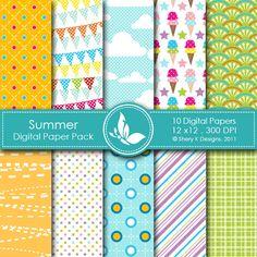 Summer - 10 Digital papers