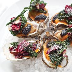 Roasted oysters are a Louisiana staple, and this version from Chef to Watch Daniel Causgrove gets topped with Parmesan and fried kale.