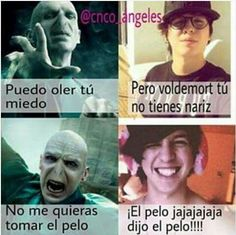 Read 168 Voldemort from the story CNCO Memes by AngelaNayelITMR (CNCOMisterios! Funny Spanish Memes, Spanish Humor, Voldemort, Harry Potter Memes, Harry Potter Wattpad, New Memes, Tutorial, Funny Images, Haha