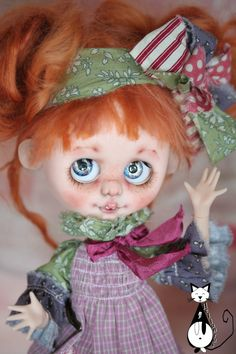Reserved for R.....Ooak custom Blyh doll not blythe : by heliantas