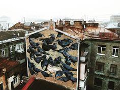 Дворик с воронами на Рейтарской, 9, Киев