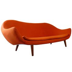View this item and discover similar for sale at - Rare Swedish modernist sofa possibly by Carl Malmsten. Mod Furniture, Furniture Styles, Furniture Design, Bauhaus Furniture, Antique Furniture, Mid Century Modern Decor, Mid Century Design, Sofa Shop, Vintage Sofa