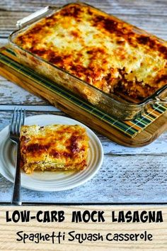 This Low-Carb Mock Lasagna Spaghetti Squash Casserole is serious comfort food, and you won't miss the carbs. This Low-Carb Mock Lasagna Spaghetti Squash Casserole is serious comfort food, and you won't miss the carbs. Healthy Low Carb Recipes, Veggie Recipes, Paleo Recipes, Cooking Recipes, Fennel Recipes, Cooking Pasta, Skinny Recipes, Sausage Recipes, Chicken Recipes