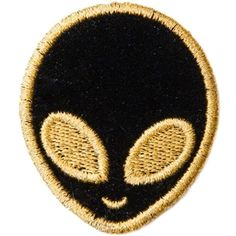 Stoney Clover Lane Velvet Alien Sticker Patch ($8) ❤ liked on Polyvore featuring accessories and multicolor