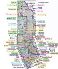 Neighborhoods in Manhattan, NYC (New York) Nova York Manhattan, Manhattan Map, Lower Manhattan, Manhattan Neighborhoods, A New York Minute, Voyage New York, Washington Heights, I Love Nyc, Free Things To Do