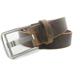 Titanium Wide Pin Distressed Leather Belt by Nickel Smart™ Our wide pin belts have been sales leaders since our early years. Now that these buckles are available in doctor-recommended titanium, interest has only increased. Distressed leather is surging in popularity and may currently be our top selling leather. Add in the fact that these full grain leather belts are handcrafted in the USA and you have everything you want in one great belt. #usa #leatherbelt #mensbelts Brown Leather Belt, Brown Belt, Distressed Leather, Leather Belts, Gifts For Your Boyfriend, Gifts For Him, Birthday Gift For Him, Carbon Fiber, Costumes