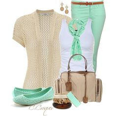 """Nude&Mint"" by ccroquer on Polyvore"