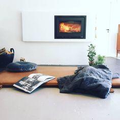 Good times #them #bythornam #cozy #leather #daybed #lounge. #danishdesign #handmade #gym #mat