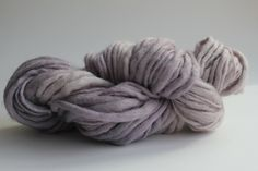 Purple Haze Color Hand Spun Hand Dyed Thick and Thin Chunky Wool Knitting Yarn. $14.00, via Etsy.