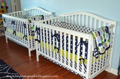 Today I want to share with you how I made no-sew crib bumpers for our twin boy nursery.   Before I begin, I know that bumpers are contr...