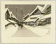 Junichiro Sekino 1914-1988 - Obanazawa - artelino Art Auctions.