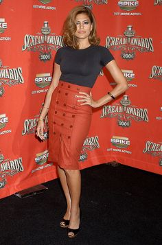 Eva Mendes Style Evolution high wasted, pencil skirt.  Classy, Sexy, Beautiful!