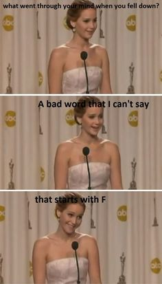 Just Jennifer Lawrence ha ha love her