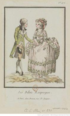 Titre:Les Billets Réciproques. : [estampe] / [Louis-Marin Bonnet] Auteur:Bonnet, Louis-Marin (1743-1793). Graveur