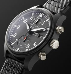 Aviation Watches for Men Iwc Watches, Watches For Men, Iwc Chronograph, Iwc Pilot, Modern Gentleman, Top Gun, Dress For Success, Luxury Watches, Latest Fashion