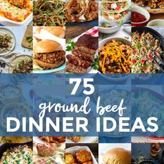 Are you looking for some ground beef dinner recipes? Use this collection of 75 Ground Beef Dinner Ideas to give you some inspiration on what to make for dinner tonight! Cheese Stuffed Mushrooms, Stuffed Peppers, Artichoke Recipes, Artichoke Chicken, Homemade Egg Rolls, Cowboy Beans, French Fried Onions, Dinner With Ground Beef