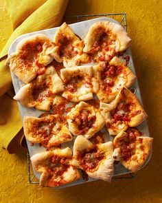 Perfect for game day, these pepperoni pizza cups are a guaranteed crowd-pleaser. Guests get all of the pizza goodness without committing to a whole slice. #appetizers #partyfood #fingerfood #miniappetizerrecipes #muffintinrecipes #bhg Frozen Appetizers, Yummy Appetizers, Appetizer Recipes, Snack Recipes, Shrimp Cakes, Crab Cakes, Tasty Mac And Cheese, Muffin Tin Recipes, Muffin Tins