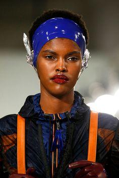 New Hair Makeup Trends Pat McGrath Red Lips NYFW