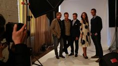 THE HOLLYWOOD REPORTER ~ Behind the scenes of photo shoot for THE IMITATION GAME prior to the September 9, 2014 screening of the movie. Left to right: Director Morten Tyldum, Benedict Cumberbatch, Allen Leech, Keira Knightley, Matthew Goode.