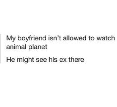 Not allowed for animal planet #Animal, #Boyfriend, #Ex, #Funny