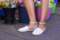 Kenneth Cole Studded Flats