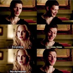 #TVD The Vampire Diaries  Klaus & Caroline, I think I already pinned this before?