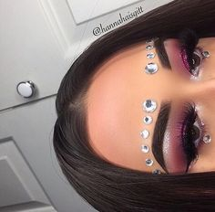 blush, diamonds, and makeup art image
