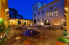 Courtyard by night at Lou Casteou, South of France via VIVA