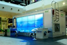 Experiential interactive dolphin aquariums for Acer