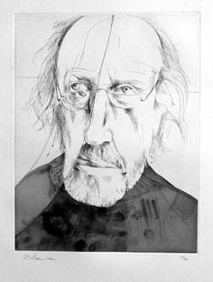 Richard Hamilton, self-portrait in a cracked miror