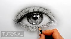 How To Draw a realistic Eye painting in dry brush (Speed Drawing) malen zeichnen…