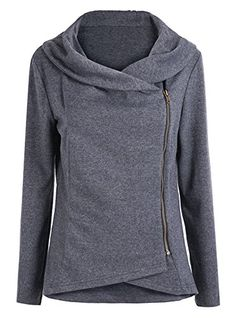 Sheinside® Women's Dark Grey Long Sleeve Asymmetric Zip Outerwear (S, Grey) Sheinside http://www.amazon.com/dp/B00OC6F0HQ/ref=cm_sw_r_pi_dp_9lHbwb1JQ763E