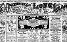Real Estate Opportunities of Long Island, The Sun (New York), May 08, 1904, Third Section, p. 9.