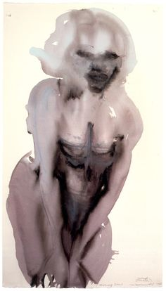 MARLENE DUMAS, MORNING DEW 1997: never realized the ones i like most aren't her outrageously beautiful, colorful paintings... -repinned by http://LinusGallery.com  #art #artists #contemporaryart