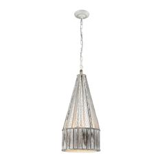 Rustic Cone Pendant Grey Washed Wood And Chicken Wire Shade  PENNANT POINT PENDANT WITH PAINTED WOOD AND METAL WIRE SHADE
