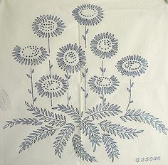Antique Embroidery Transfers | VINTAGE EMBROIDERY TRANSFER - LARGE MIXED FLOWER BOUQUET - CUSHION ...