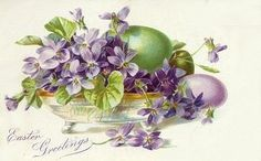 Victorian Easter Card