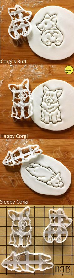 super cute corgi cookie cutters come in 3 different patterns/poses that every corgi lover will recognize. #etsyTLad