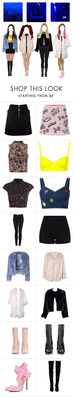 """""""DSM Last Night"""" by dsm-offical ❤ liked on Polyvore featuring Dondup, Glamorous, Topshop, River Island, Steve J & Yoni P, Sans Souci, Missoni, Alexander McQueen and Christian Louboutin"""