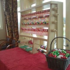 Our maintenace staff built this gift wrap station for Residents to come in and secretly wrap those presents at the clubhouse.  A nice tradition you can use every year.  White Oak Luxury Apartments Chester Virginia