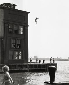 Jumping into the Hudson River, 1947