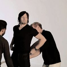 Wiggling norman reedus so cute I love him