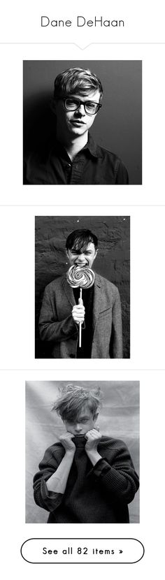 """""""Dane DeHaan"""" by imawkwardhey ❤ liked on Polyvore featuring dane dehaan, people, boys, pictures, role play, home, children's room, jewelry, brooches and actors"""