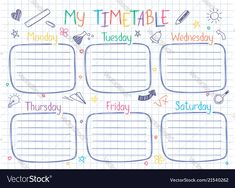 Schedule Design, Schedule Templates, Money Envelope System, Timetable Template, School Timetable, Islam For Kids, School Schedule, Study Planner, Study Notes