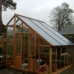 Great use of your yard space! Solar pv greenhouse energy for the home.