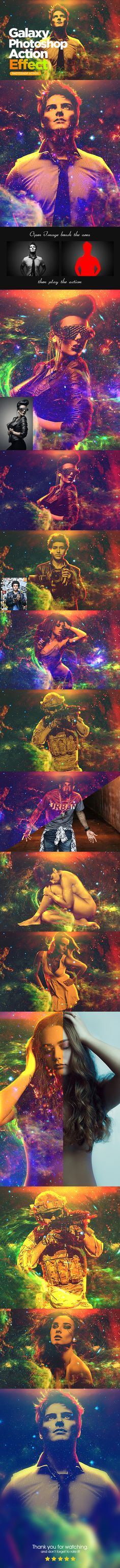 Galaxy #Photoshop Action Effect - #Photo Effects #Actions Download here:  https://graphicriver.net/item/galaxy-photoshop-action-effect/20333106?ref=alena994