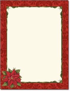 poinsettia damask holiday stationery 80 sheets - Free Holiday Stationery Templates